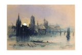 Bruges by Moonlight Giclee Print by Henry Bright
