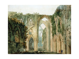 Interior of Tintern Abbey Giclee Print by Thomas Girtin