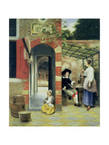 The Courtyard of a House in Delft, 1658 Giclee Print by Pieter de Hooch