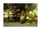 The Vegetable Vendor, 1890 Giclee Print by Luigi Nono