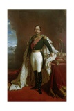 Portrait of Emperor Napoleon III (1808-73) in Coronation Robes Giclee Print by Jules de Vignon