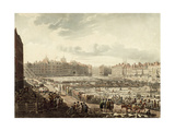 Bird's Eye View of Smithfield Market Giclee Print by Thomas Rowlandson