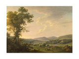 Landscape with Haymakers and a Distant View of a Georgian House, C.1780 Giclee Print by William Ashford