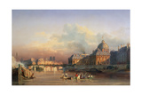 A View of Paris from the Seine Giclee Print by Louis Nicolas Matout