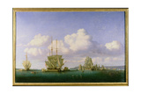 The Anchorage of Brest in Calm Weather, 1844 Giclee Print by Jules Achille Noel