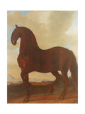 The Bay Stallion at the Eisgruber Stud Giclee Print by Johann Georg Hamilton