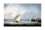 The Arrival of George IV at Leith Harbour, 1822 Giclee Print by Thomas Buttersworth