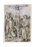 Christ on the Cross, with the Virgin and St. John Giclee Print by Martin Schongauer
