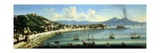 Naples, from the Heights of Posillipo with Vesuvius in the Distance, 1740 Giclee Print by Tommaso Ruiz