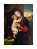 Madonna med barnet Giclée-tryk af Mariotto Albertinelli