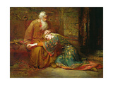 Cordelia Comforting Her Father, King Lear, in Prison, 1886 Giclee Print by George William Joy