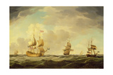 An English Flagship under Easy Sail in a Moderate Breeze, C.1750 Giclee Print by Charles Brooking