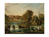 A View of Duncombe Park in North Yorkshire from across the Lake Giclee Print