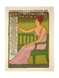 Reproduction of a Poster Advertising the 'Georges Petit Gallery', Paris, 1897 Giclee Print by Maurice Realier-Dumas