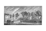 Central Part of Greenfield, from 'Historical Collections of Massachusetts', by John Warner… Giclee Print by John Warner Barber