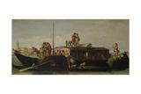 Venetian Post Barge, 1760/70 Giclée-tryk af Giandomenico Tiepolo
