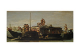 Venetian Post Barge, 1760/70 Giclee Print by Giandomenico Tiepolo