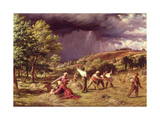 A Thunder Shower, 1859 Giclee Print by James Thomas Linnell