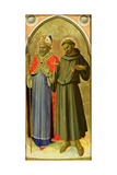 St. Francis and a Bishop Saint Giclee Print by  Fra Angelico