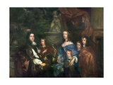 Sir Edward Hales (D.1695) and His Family, C.1656 Giclee Print by Sir Peter Lely