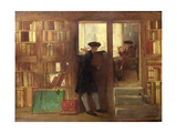 The Bibliophilist's Haunt or Creech's Bookshop Giclee Print by William Fettes Douglas