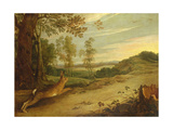 "The Tortoise and the Hare, from Aesop's ""Fables"" Giclee Print by Jan Wildens"