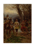 Oliver Cromwell Questioning a Prisoner, 1895 Giclee Print by Ernest Crofts