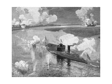 The Monitor 'Montauk' Destroying the Confederate Privateer 'Nashville' Near Fort Mcallister,… Giclee Print by Julian Oliver Davidson