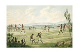"Contest with Spears, Shields and Clubs, from His ""Drawings of the Natives and Scenery of Van… Giclee Print by Joseph Lycett"