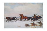 Winter Sleigh Giclee Print by Cornelius Krieghoff
