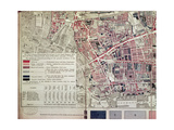 London: Whitechapel Section, from a Descriptive Map of East End Poverty, 1887 Giclee Print