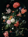 Flowers in a Glass Vase, C.1660 Giclée-trykk av Jan Davidsz. de Heem
