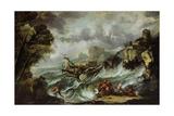 Seascape with Shipwreck, C.1700-07 Giclee Print by Antonio Marini