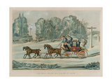 The Mail Coach in a Storm of Snow, by G. Reeves, Pub. by J. Watson, 1825 Giclee Print by James Pollard