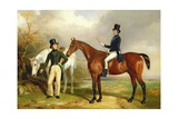 Two Gentlemen Out Hunting Giclee Print by Henry Barraud