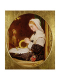 A Lady Sewing at a Window, 1859 Giclee Print by Francis John Wyburd