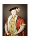 Edward VI with the Chain of the Order of the Garter, after the Portrait in the Collection of H.M.… Giclee Print by Guillaume Scrots