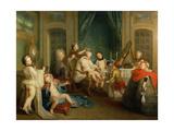 Boudoir Interior Giclee Print by Carle van Loo