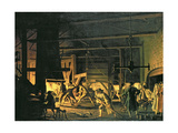 In the Anchor-Forge at Soderfors. the Smiths Hard at Work Giclee Print by Pehr Hillestrom