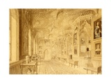 Long Gallery at Strawberry Hill, Twickenham Giclee Print by Thomas Sandby