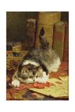 Stalking Cat Giclée-Druck von Charles Van Den Eycken