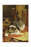 Stalking Cat Giclee Print by Charles Van Den Eycken