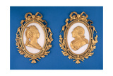 Portraits of LouisXVI (1754-93) and Marie Antoinette (1755-93) Giclee Print