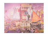 The Colossus of Rhodes Giclee Print by Antonio Munoz Degrain