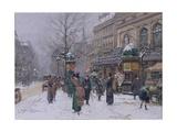 Parisian Street Scene Giclee Print by Eugene Galien-Laloue