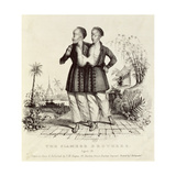 The Siamese Brothers, Aged 18, Printed by Charles Hullmandel (1789-1850), C.1829 Giclee Print by Thomas Mann Baynes