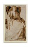 Elizabeth Siddal, 1855-58 Giclee Print by Dante Gabriel Rossetti