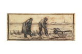 The Potato Harvest, from a Series of Four Drawings Representing the Four Seasons Giclee Print by Vincent van Gogh