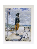 T653 a Sikh Sentry, Fort Johnston, Nyasaland, 1891 Giclee Print by Harry Hamilton Johnston