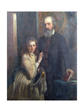 Sir William Fitzherbert with His Daughter, Ida, 1862 Giclee Print by James Sant